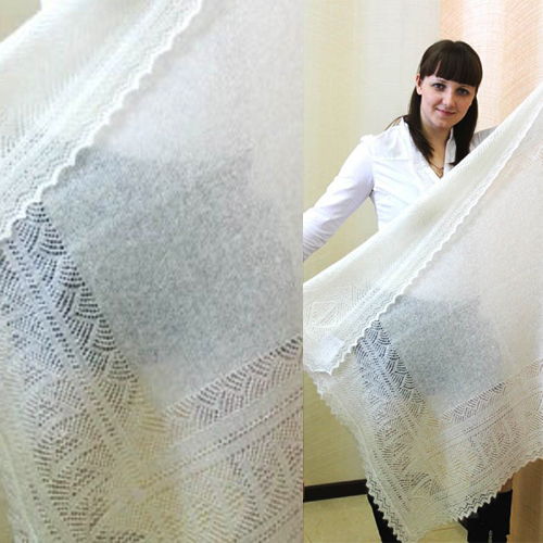Оренбургский пуховый платок, 1-7.1С319_П2-100-01