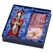 """Подарочный набор """"Евдокия"""": кукла, платок"""