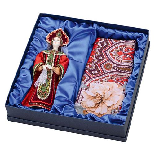 Подарочный набор Евдокия: кукла, платок
