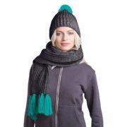 Вязаный комплект шарф и шапка GoSnow