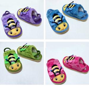 Тапочки детские с резиночкой на пятке Пчелка