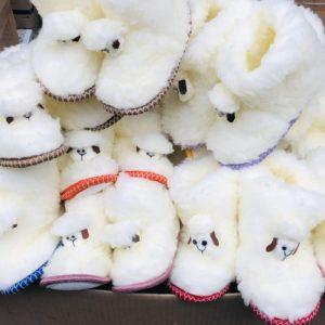 Детские чуни из овечьей шерсти Овечка