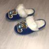 Детские тапочки из овечьей шерсти Мишка