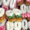 Детские чуни из овечьей шерсти Бабочки